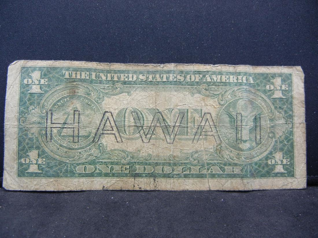 1935 A HAWAII Emergency $1. RARE to Find. - 3