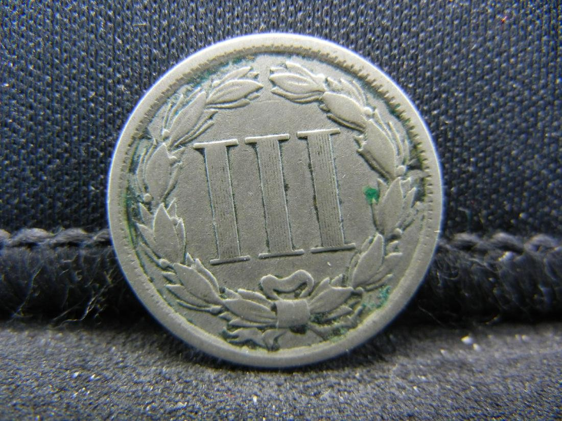 1881 Three Cent Nickel, Fine+ Condition. - 2