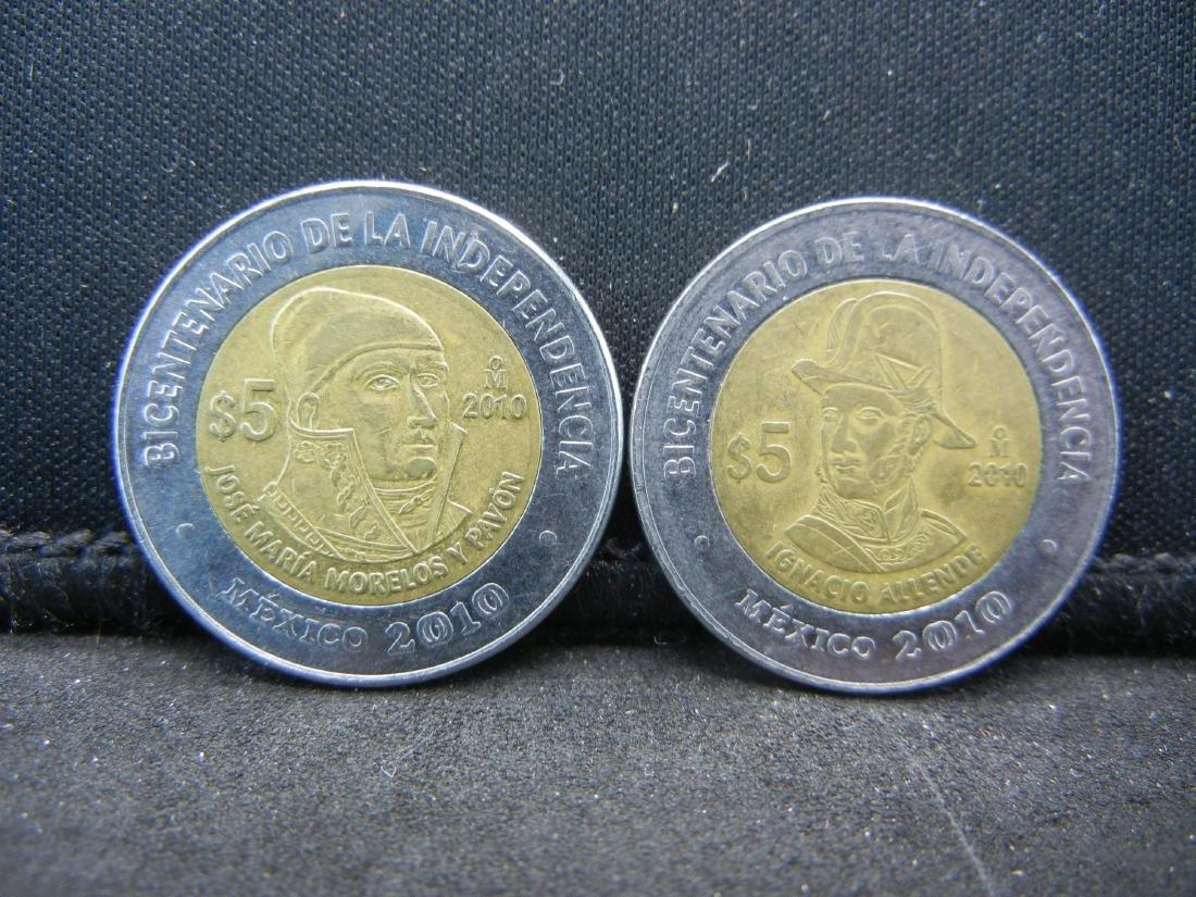 2010 5 Peso Ignacio Allende & Jose Maria Morelos y