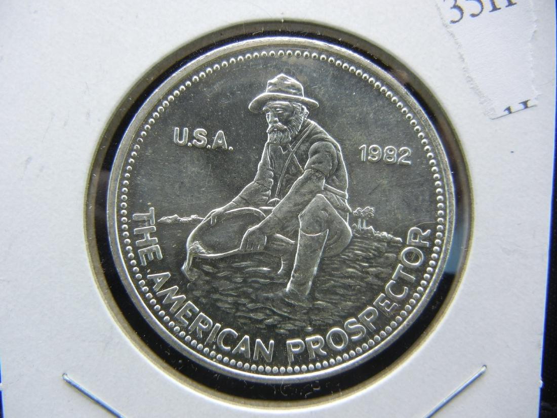 1982 PROSPECTOR Engelhard 1 ounce 999 silver. BU.