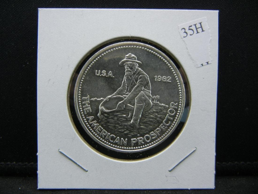 1982 PROSPECTOR Engelhard 1 ounce 999 silver. BU. - 3