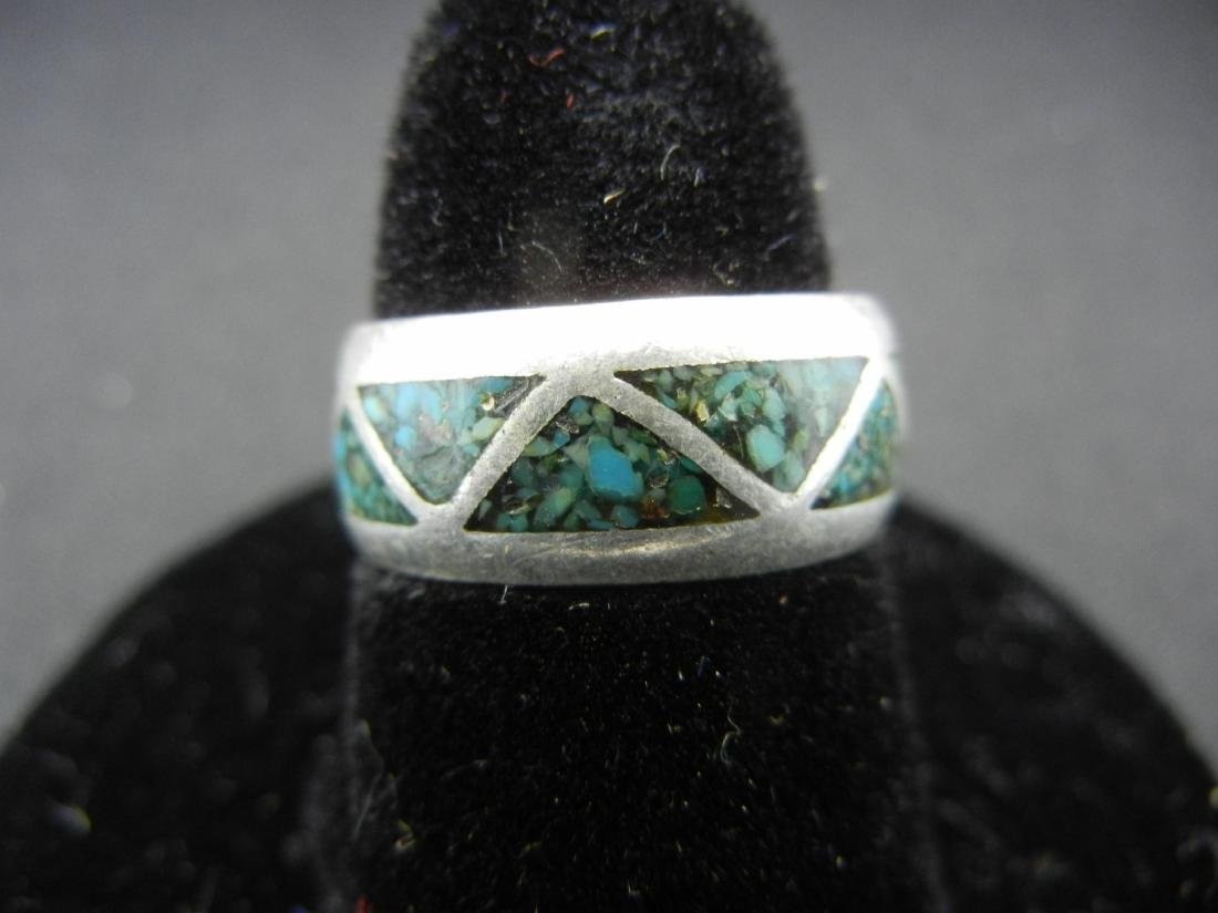 Sterling Silver Southwest PAWN Turquoise Ring