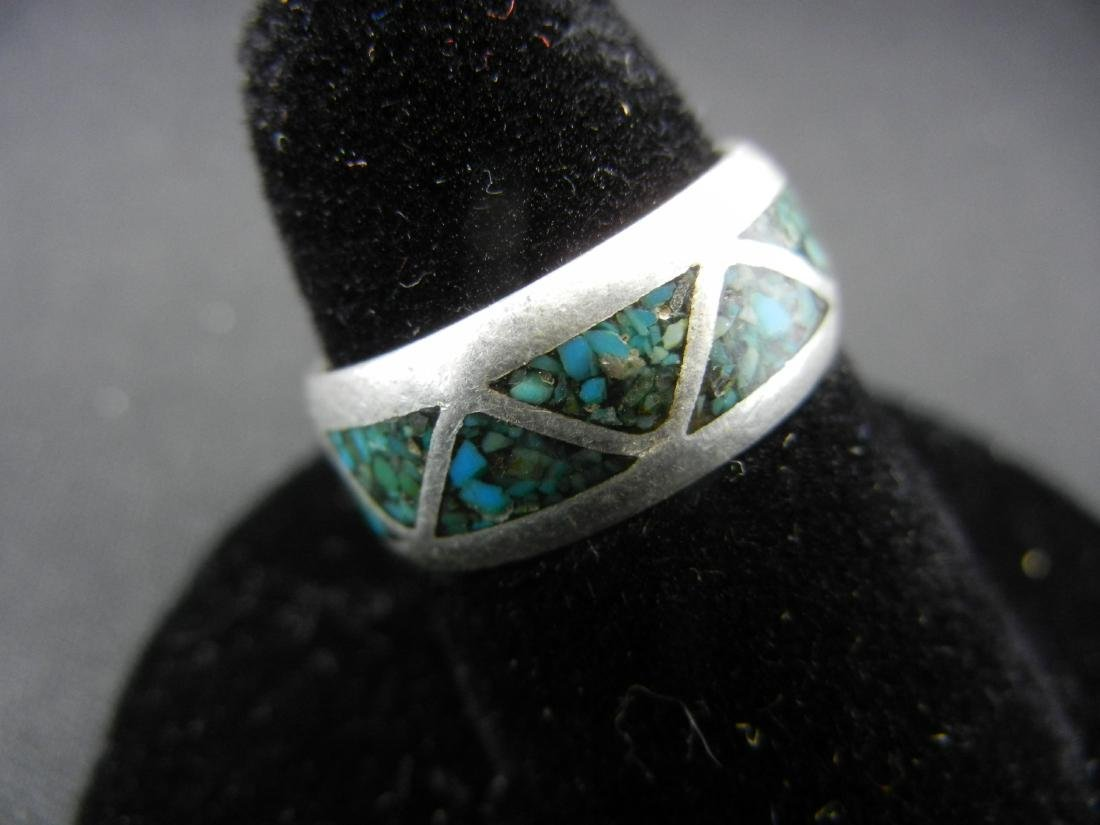 Sterling Silver Southwest PAWN Turquoise Ring - 2