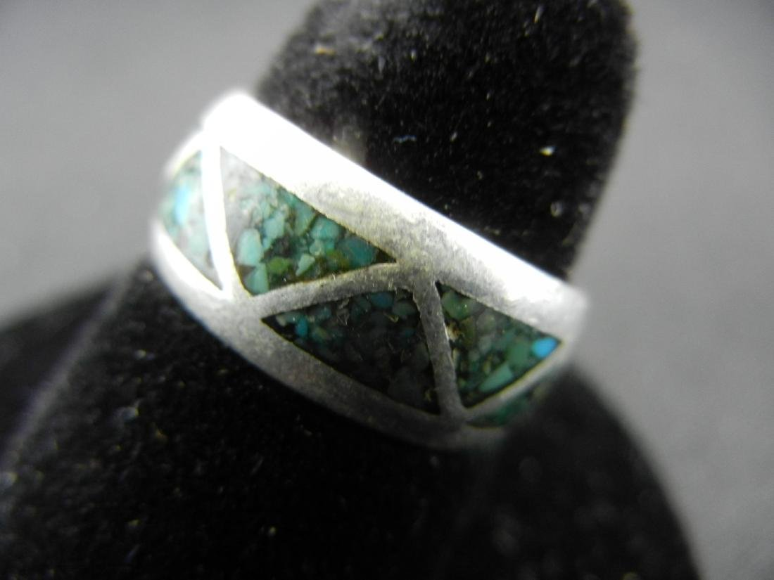 Sterling Silver Southwest PAWN Turquoise Ring - 3