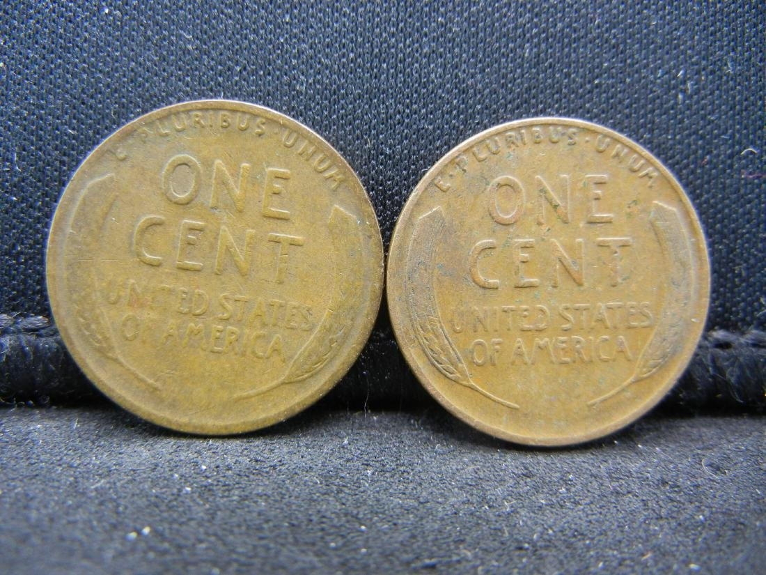 1933 PD Lincoln Wheat Cents. - 2