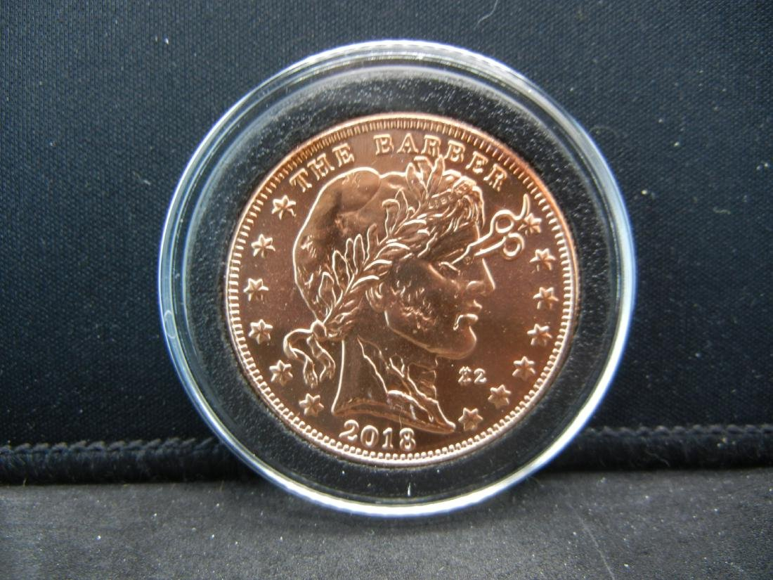 The Barber Zombuck's Currency of the Apocalypse 1 OZ