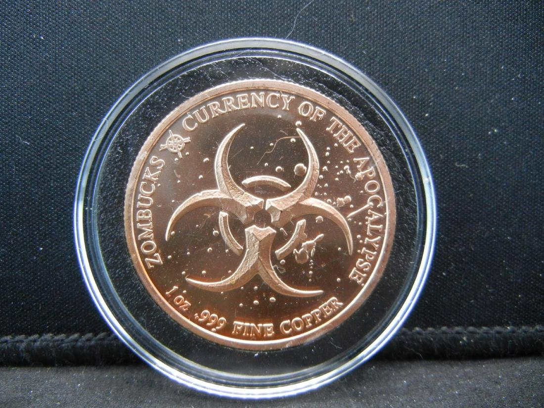 The Barber Zombuck's Currency of the Apocalypse 1 OZ - 2