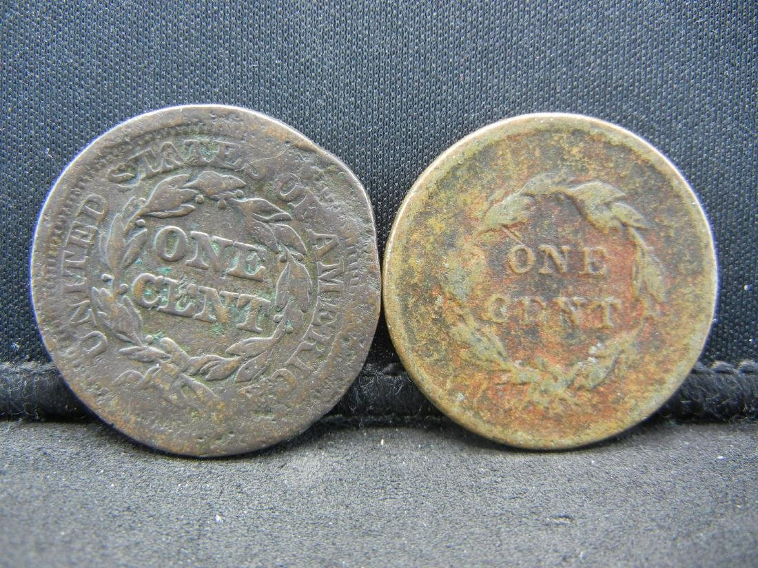 1838 and 1852 Large cents. Used - 2