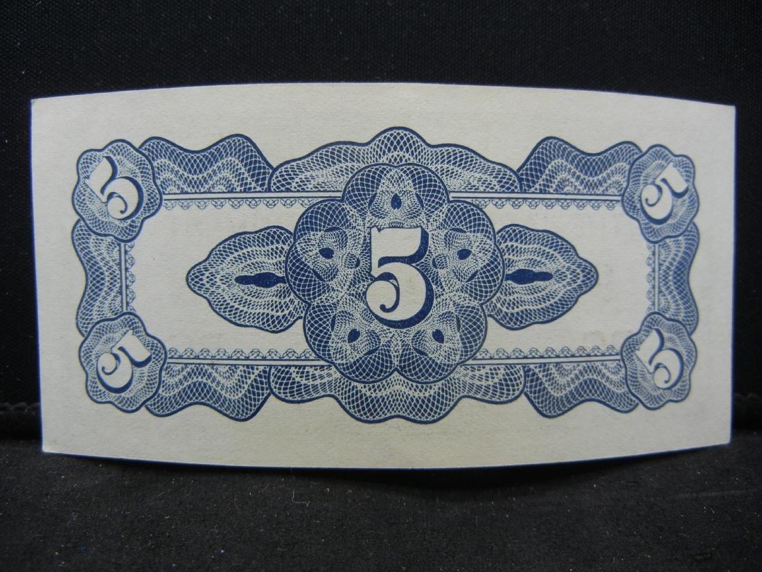1942 Japanese 5 Centavos Phillipine WW II Occupation - 2
