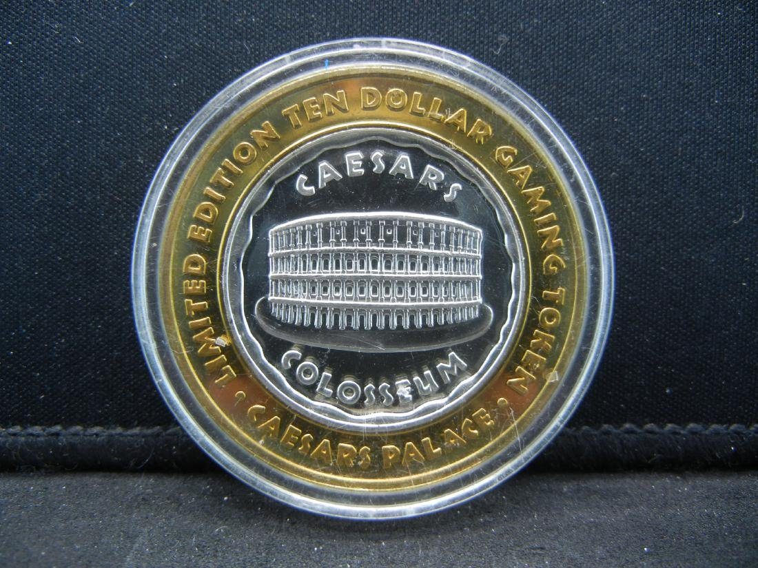 Limited Edition $10 Gaming Token Ceasar's Palace Las - 2