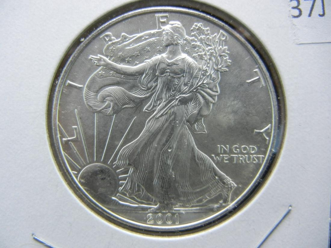 2001 9/11 American Silver Eagle. NEVER FORGET