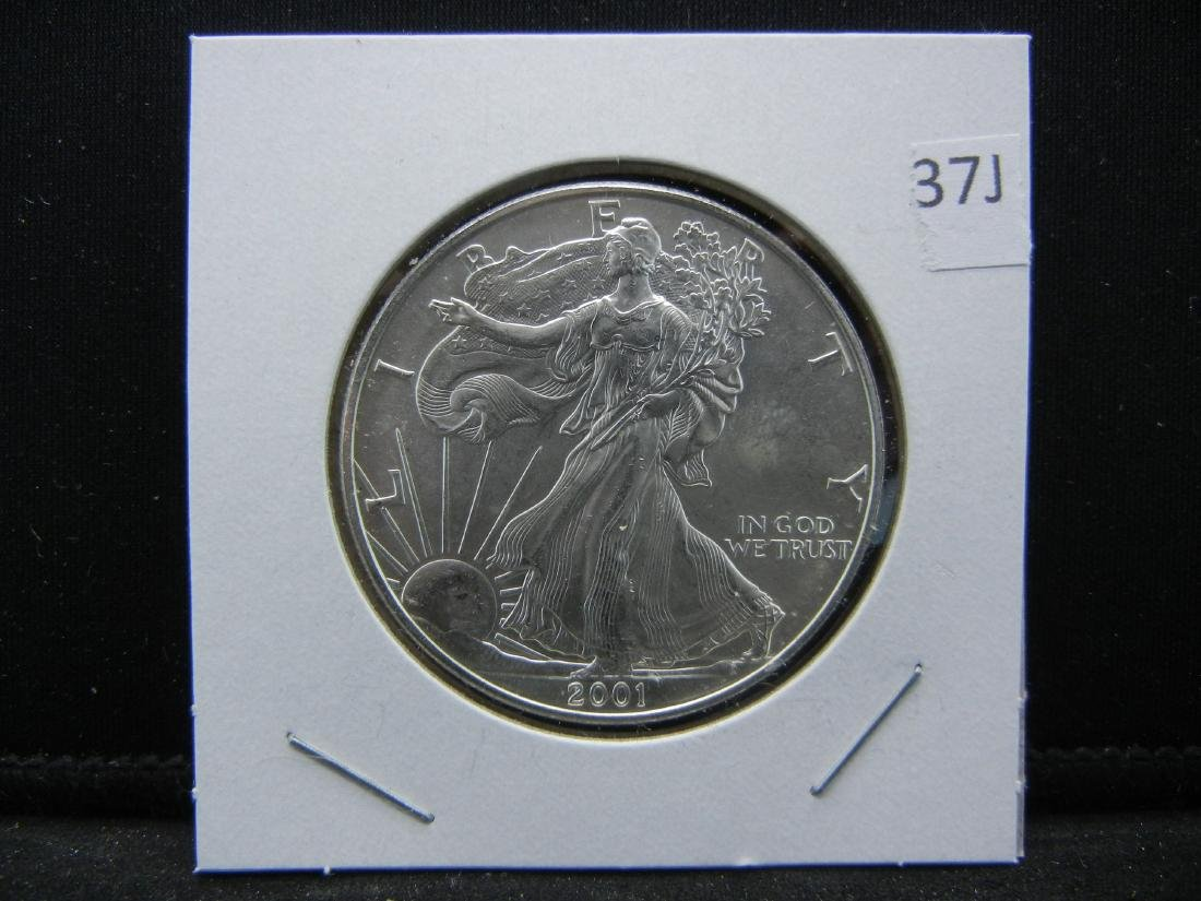 2001 9/11 American Silver Eagle. NEVER FORGET - 3