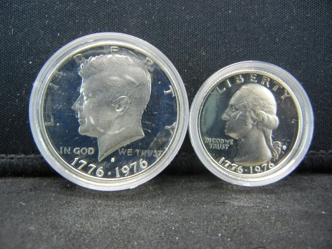 1976-S Bicentennial Proof 40% Silver Quarter and Half