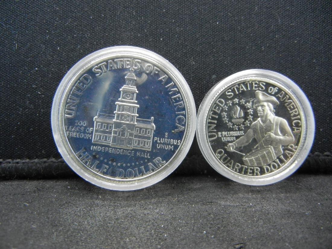 1976-S Bicentennial Proof 40% Silver Quarter and Half - 2