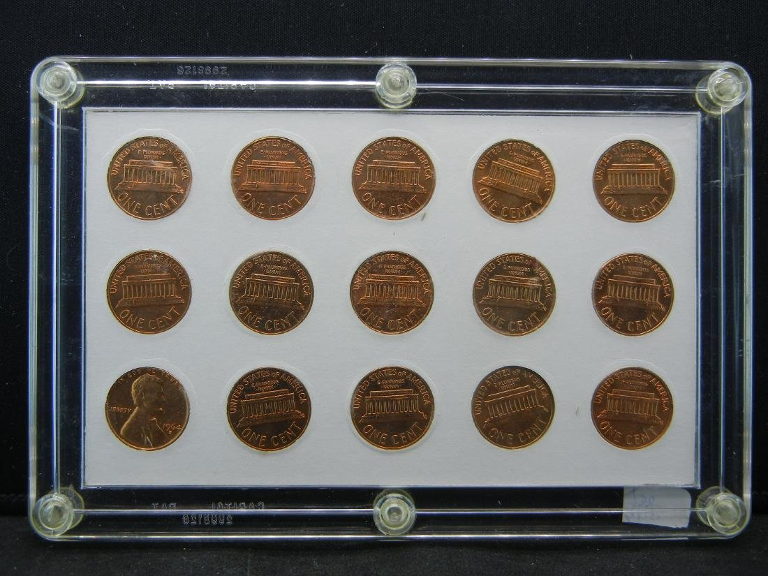 1959 to 1964 Lincoln Memorial Cent Collection - 2