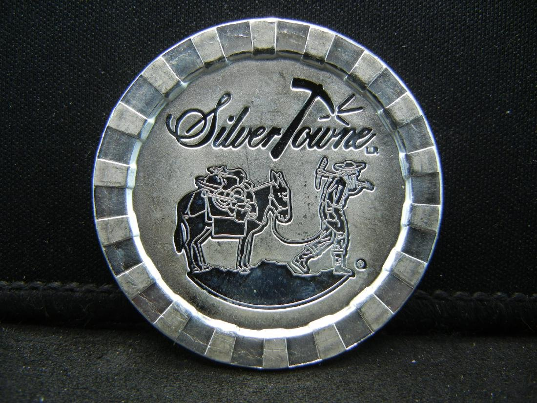 Silvertowne Casino interlocking Chip. 1 ounce 999