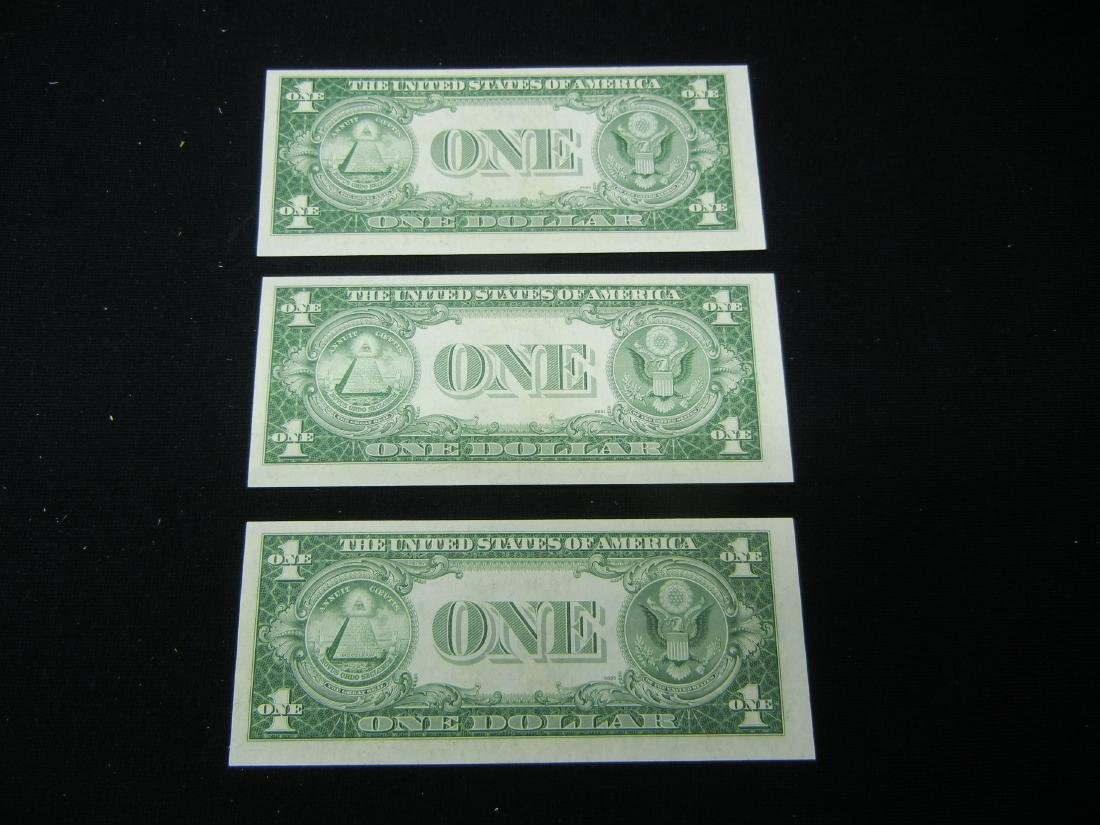 (3) 1935 F Silver certificates. CONSECUTIVE NOTES! - 5