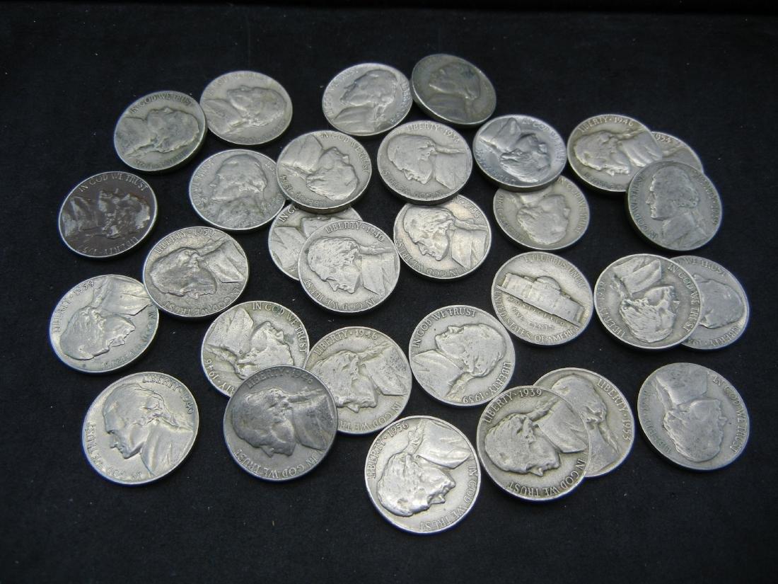 30 Mixed Date Jefferson Nickels