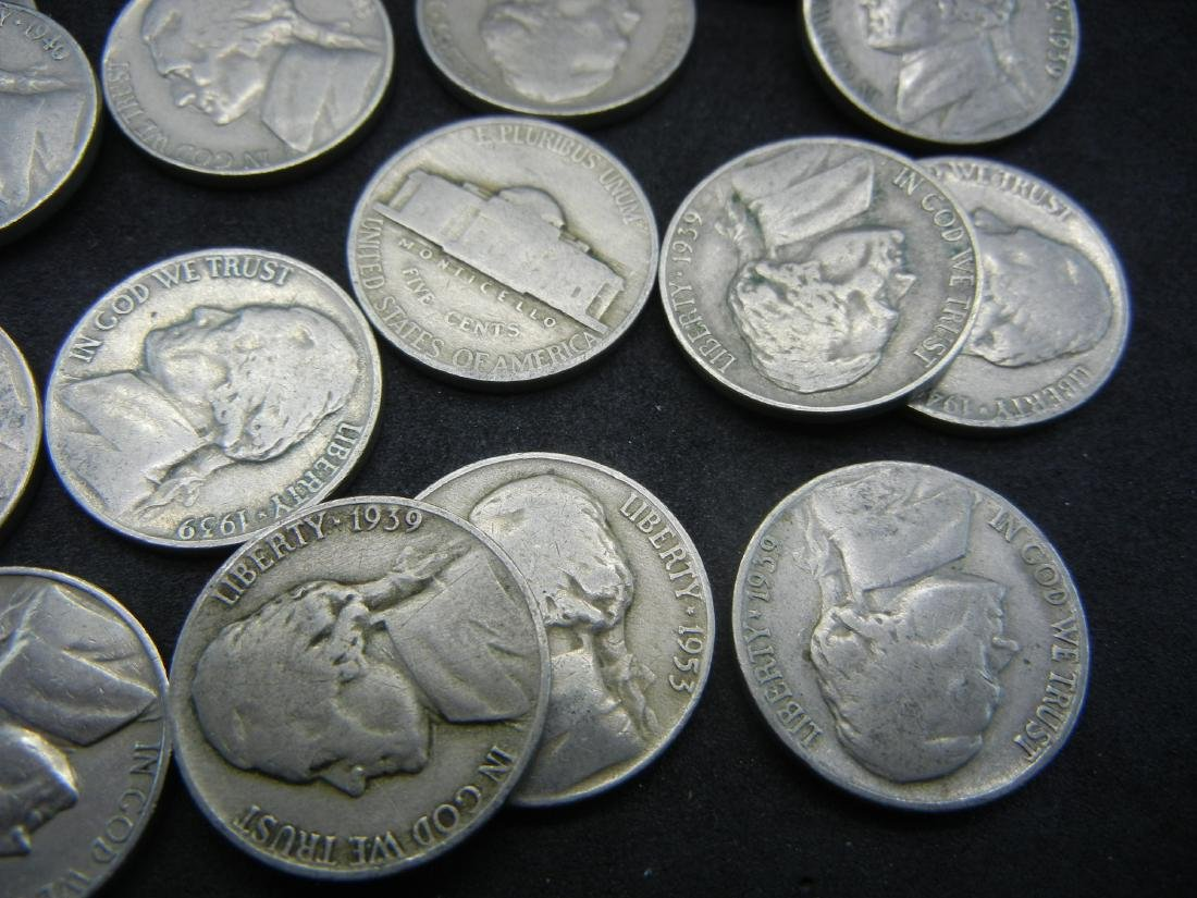 30 Mixed Date Jefferson Nickels - 3