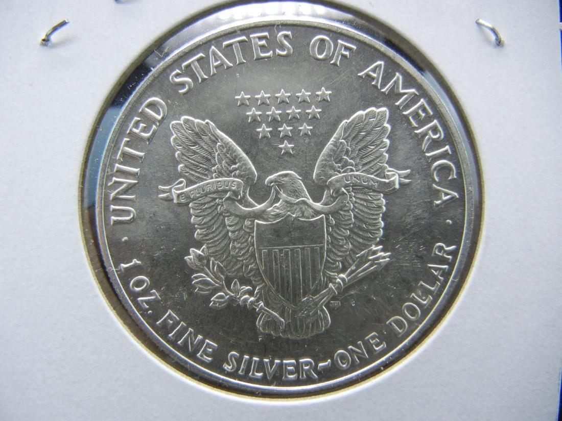 1991 American Silver Eagle. BU. Nice early date. - 2