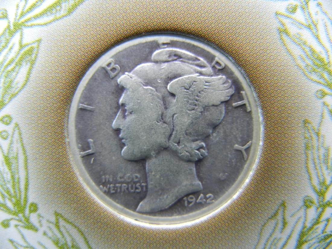 Rare Silver Winged Liberty Dime. Made in Danver during - 3