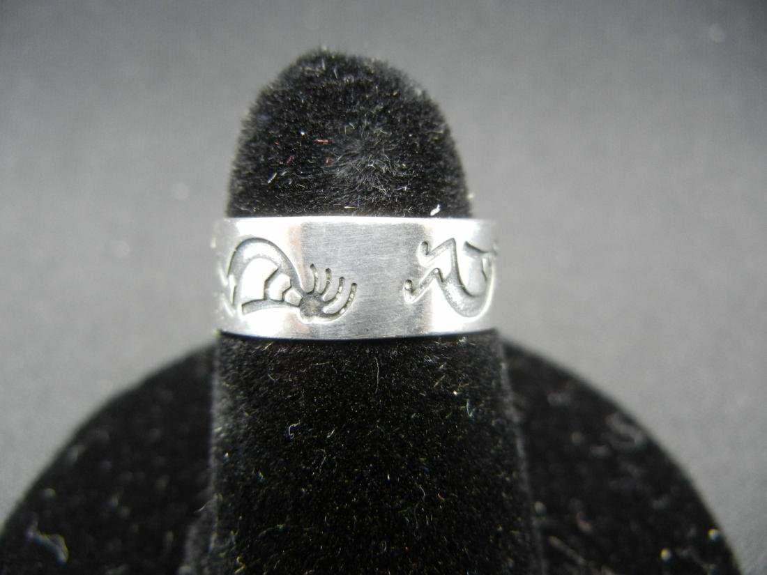 New Mexico Anasazi Indian Ring. 925 silver! OLD.