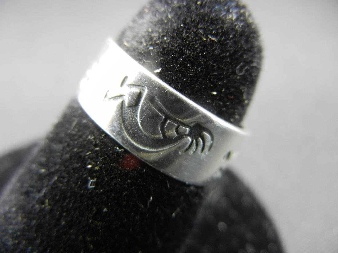 New Mexico Anasazi Indian Ring. 925 silver! OLD. - 3