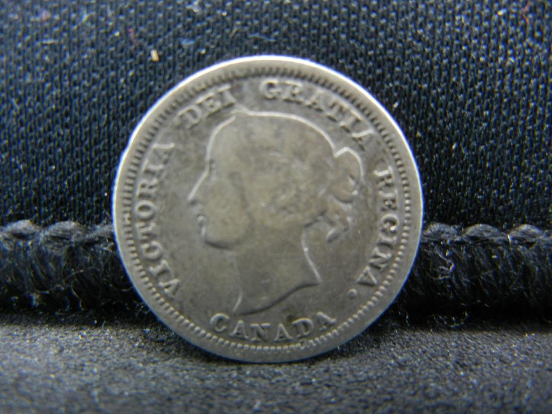 1870 Canada 5 Cents Sterling (92.5%) Silver Coin.  Coin - 2