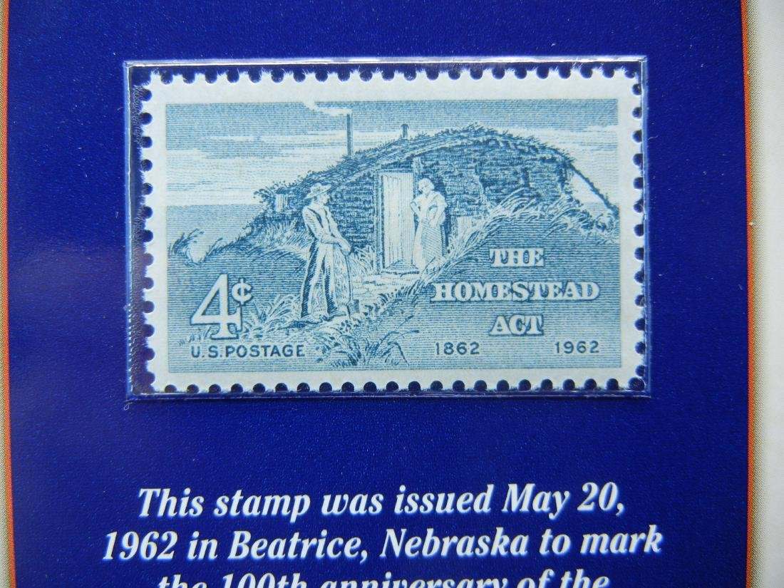 1969 1970 Lincoln Cents and Stamp Set Remembering - 2