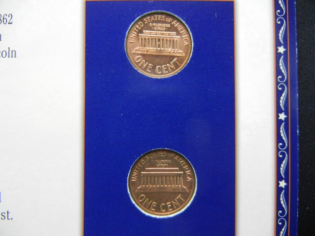 1969 1970 Lincoln Cents and Stamp Set Remembering - 4