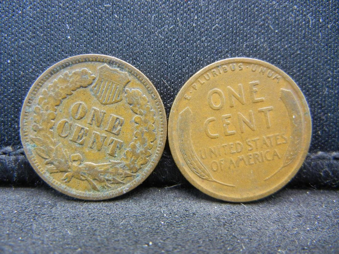 1909 Indian Cent and 1909-VDB Lincoln Cent. - 2