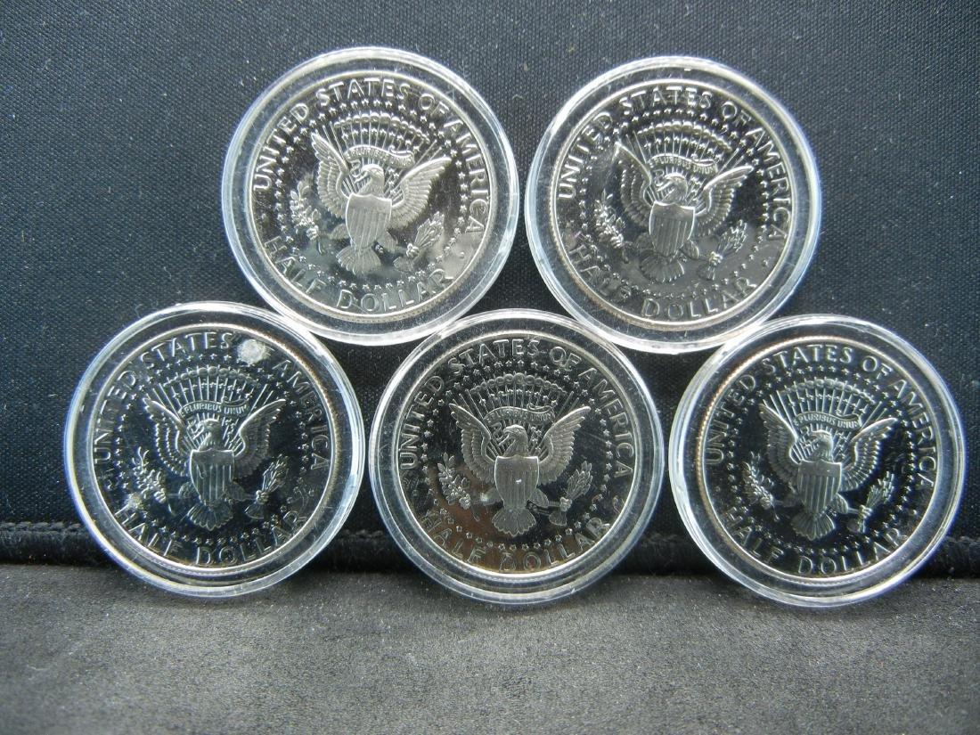 5 2000-S Proof Kennedy Half Dollars. - 2