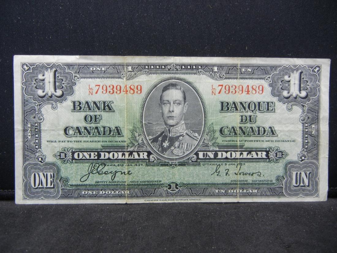 1937 VINTAGE Canada $1. George VI