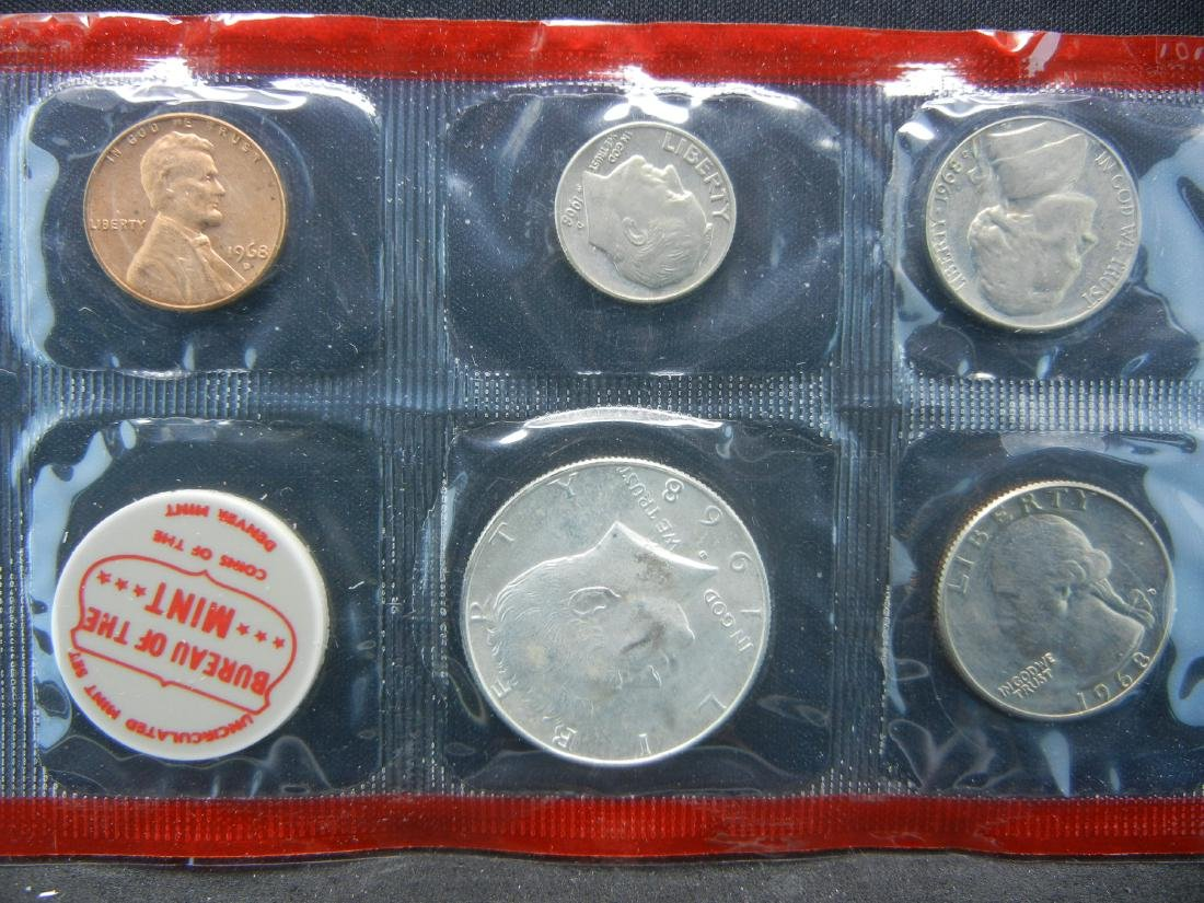 1968 United States Mint Sets With Original Packaging. - 2