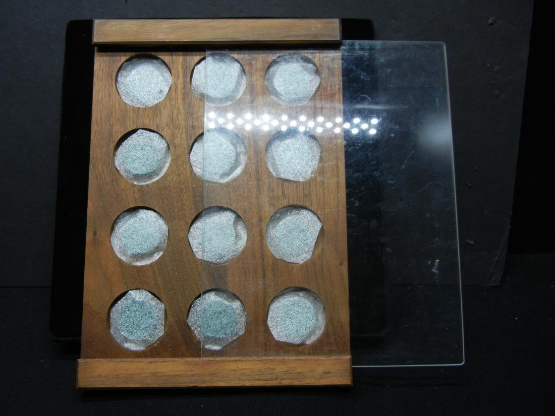 Nice wood coin display - 2