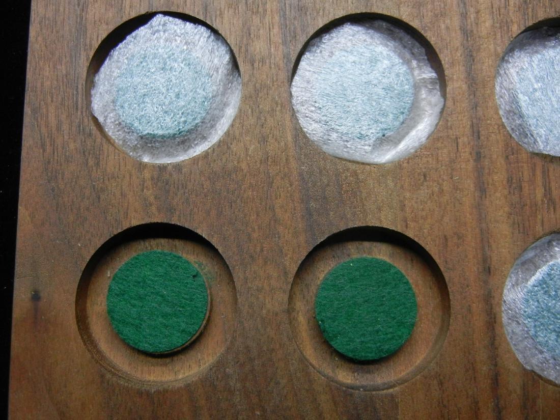 Nice wood coin display - 3