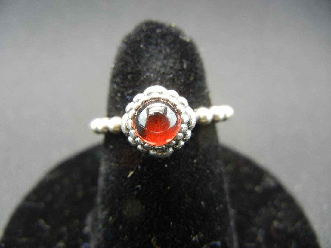 Exotic Red Moonstone Ring. 925 silver!
