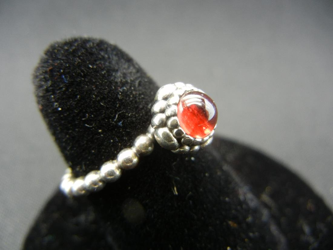 Exotic Red Moonstone Ring. 925 silver! - 2