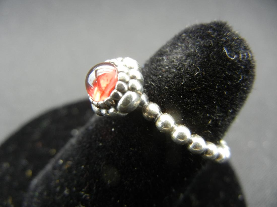 Exotic Red Moonstone Ring. 925 silver! - 3