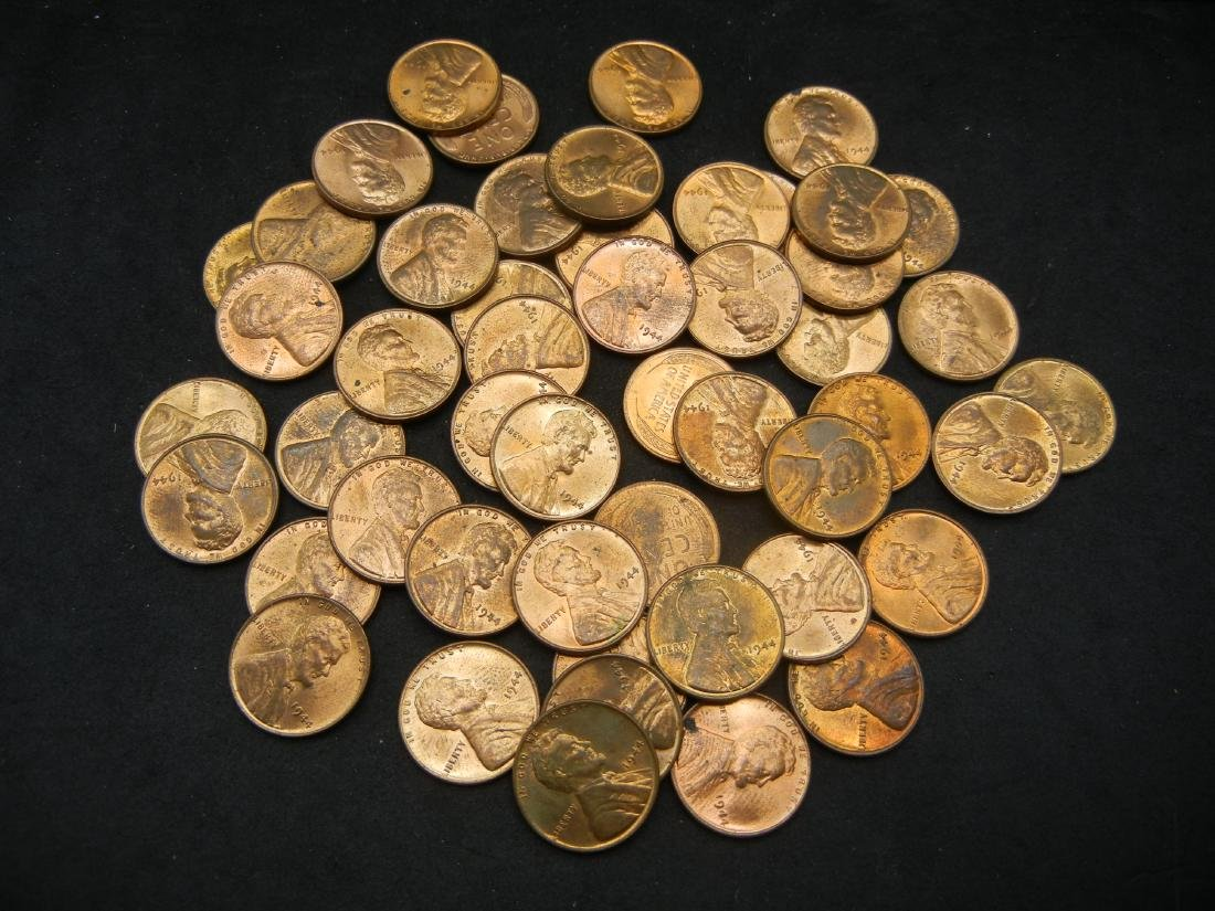 Brilliant Uncirculated Roll of 1944 Lincoln Wheat