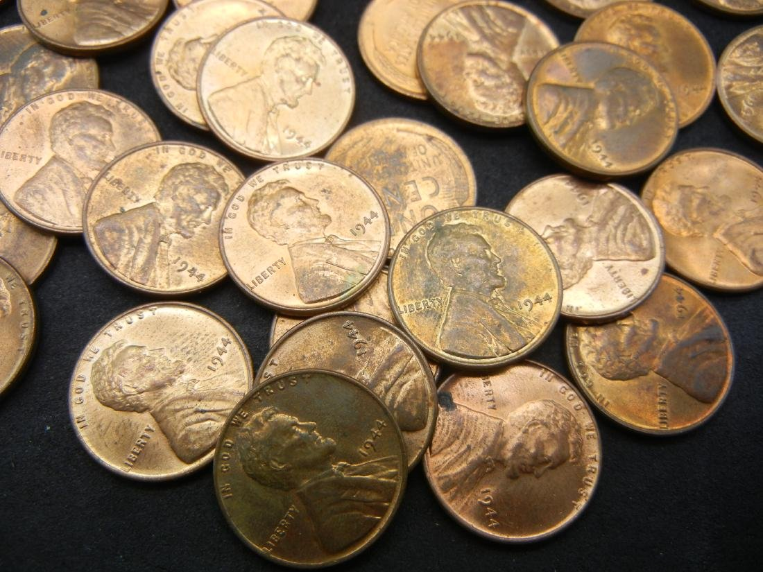 Brilliant Uncirculated Roll of 1944 Lincoln Wheat - 2
