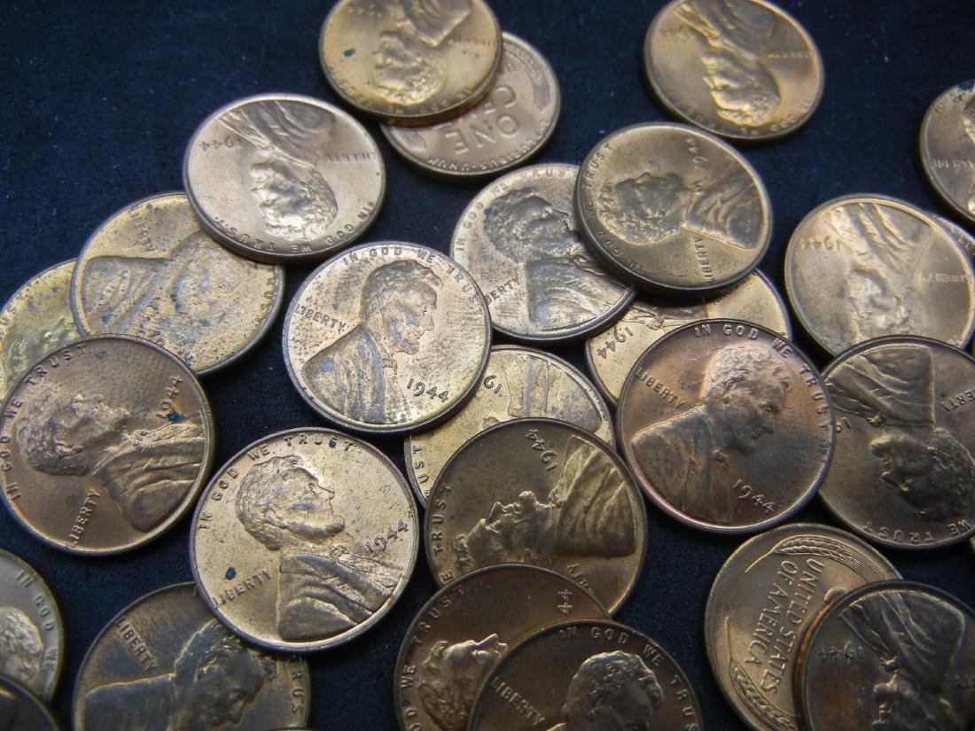 Brilliant Uncirculated Roll of 1944 Lincoln Wheat - 3