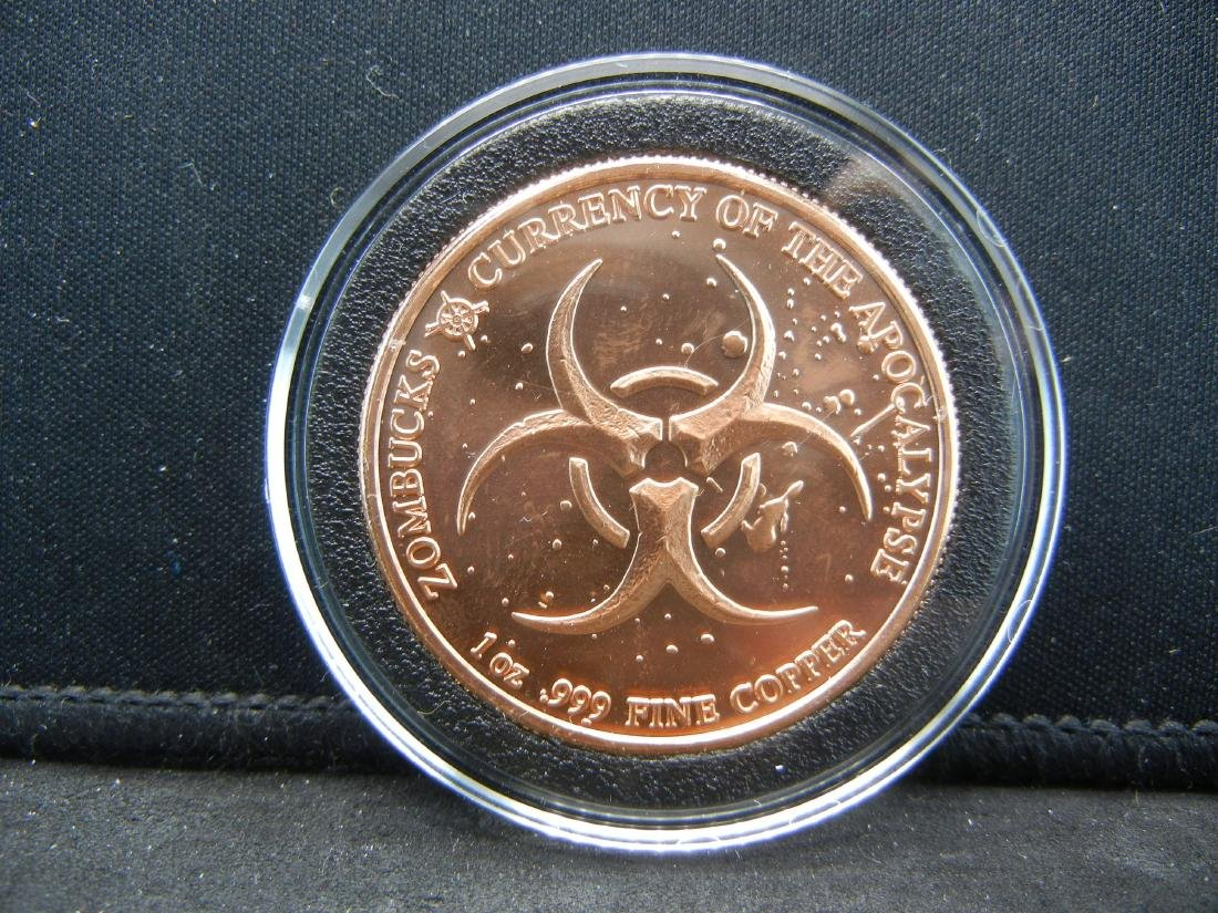 Starving Zombuck's Currency of the Apocalypse 1 OZ .999 - 2