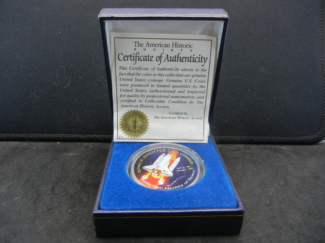 Space Shuttle COLUMBIA disaster Ike Dollar. Genuine