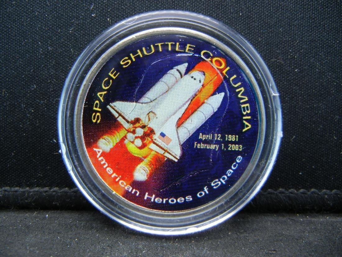Space Shuttle COLUMBIA disaster Ike Dollar. Genuine - 2