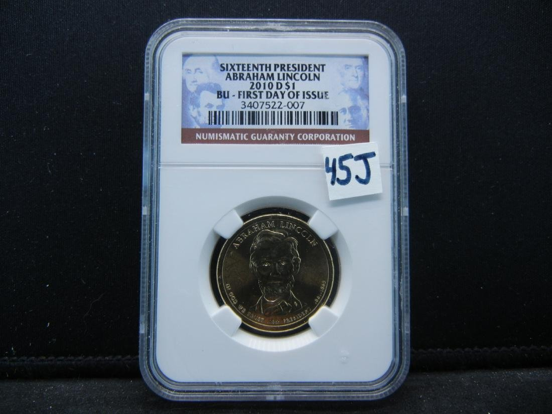 NGC Graded BU First day Abe Lincoln Dollar. WOW!