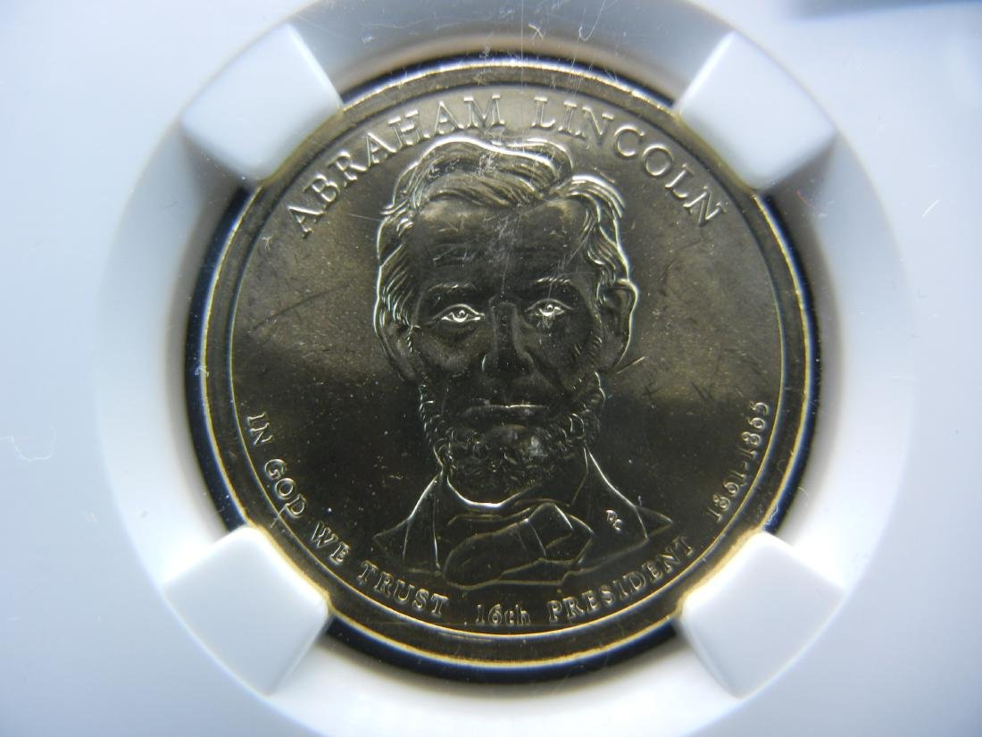 NGC Graded BU First day Abe Lincoln Dollar. WOW! - 2