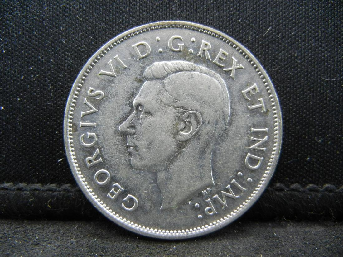 1940 Canada 50 Cents 80% Silver Uncirculated Coin, - 2
