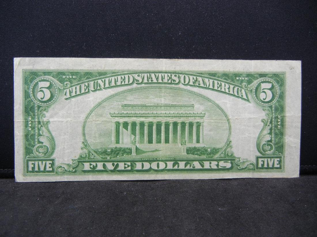 1934-A $5 Blue Seal Silver Certificate.  Serial # - 3