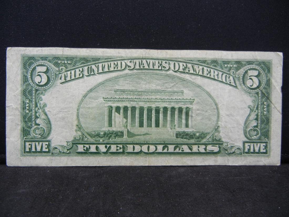 1953 $5 Blue Seal Silver Certificate.  Serial # - 3